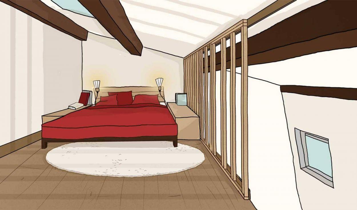 fermer une mezzanine pour en faire une chambre parentale construire un claustra. Black Bedroom Furniture Sets. Home Design Ideas