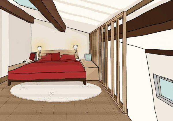 La Bonne Idée : Une Mezzanine Transformée En Cabane Avec Un Claustra En Bois