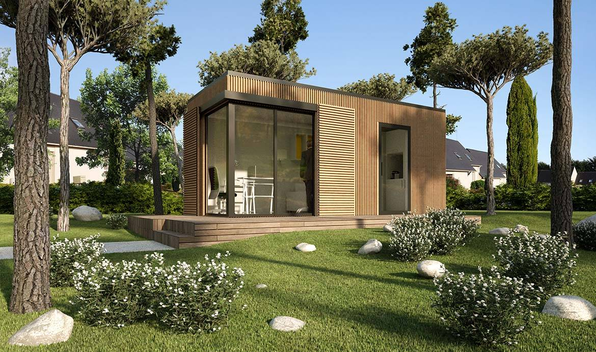 un studio en container dans le jardin vivre ou travailler dans un container. Black Bedroom Furniture Sets. Home Design Ideas