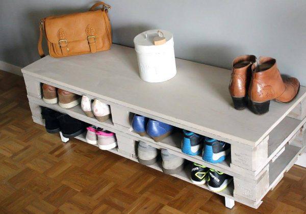 Diy Rangement Chaussures diy - un meuble en palette très pratique idéal comme rangement à