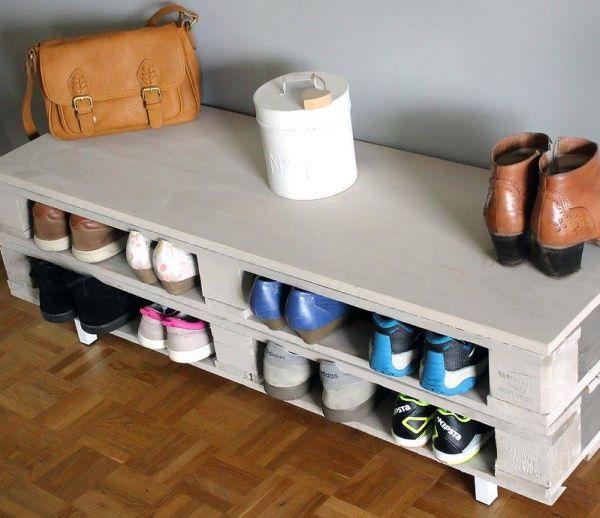 DIY : Fabriquez un range-chaussures très pratique en palette