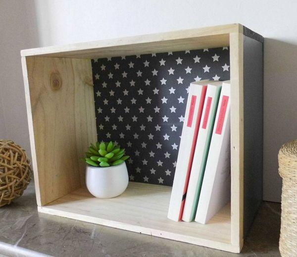 DIY : Transformez une caisse de vin en une jolie petite étagère