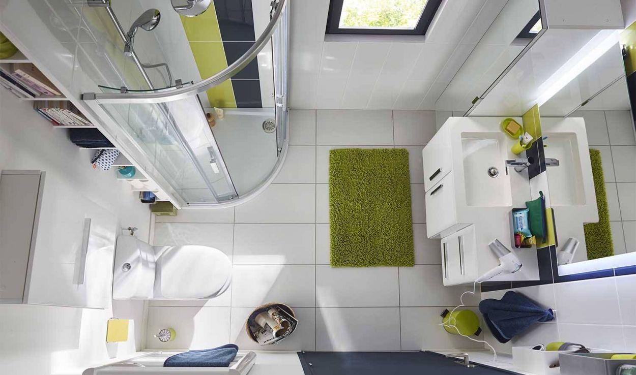 Petite salle de bains des meubles faible profondeur et for Petite salle de bain pratique