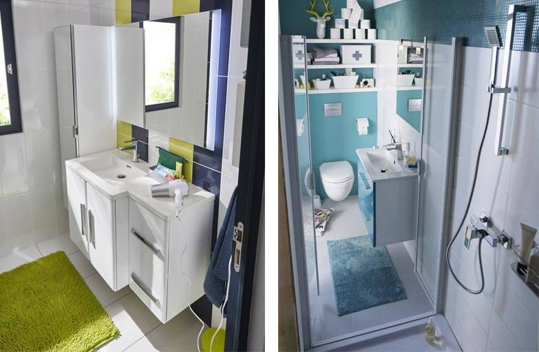 petite salle de bains des meubles faible profondeur et des rangements pratiques. Black Bedroom Furniture Sets. Home Design Ideas