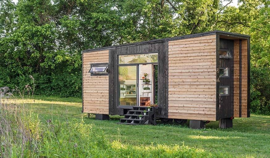Tiny House Tendance Scandinave Maison En Bois Roulante