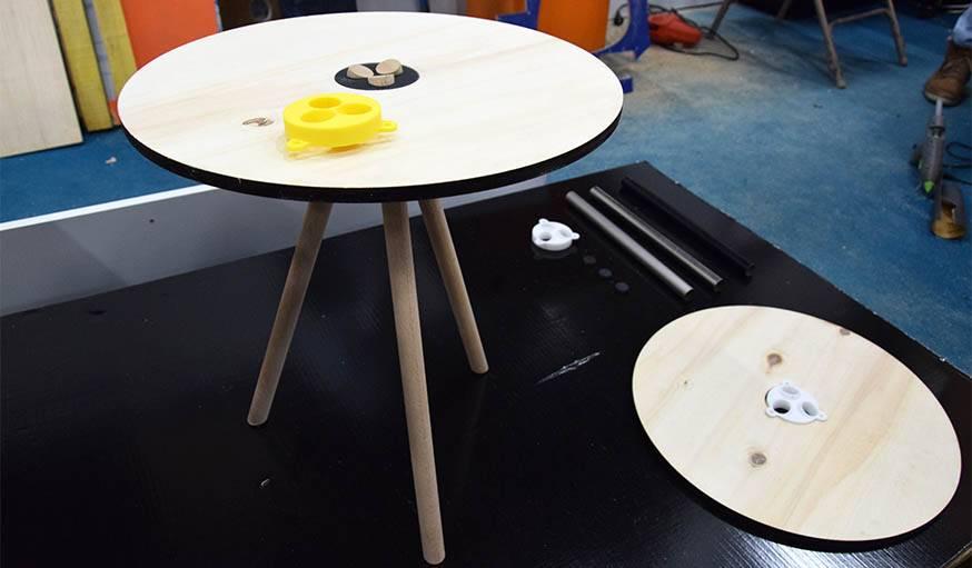 Une table par Objets Imprimés.