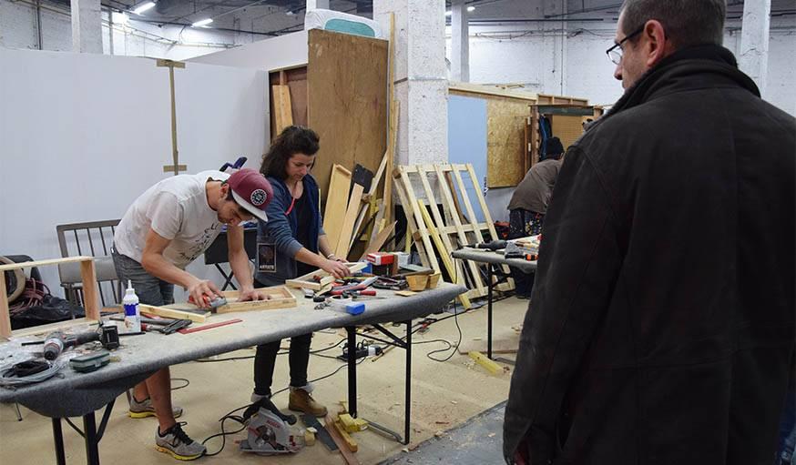 L'Atelier des Chauds au travail.