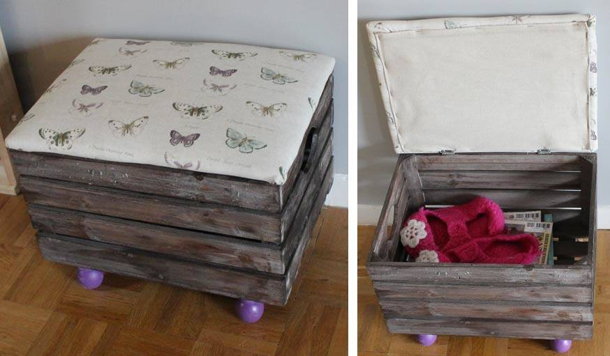 diy fabriquez un pouf de rangement meuble de rangement pas cher. Black Bedroom Furniture Sets. Home Design Ideas