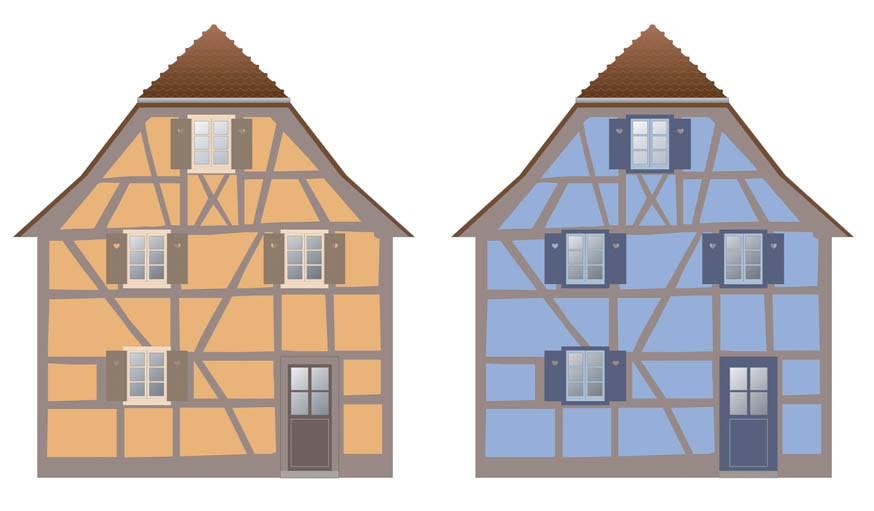 Maison alsacienne ou proven ale les couleurs for Couleur de ravalement maison