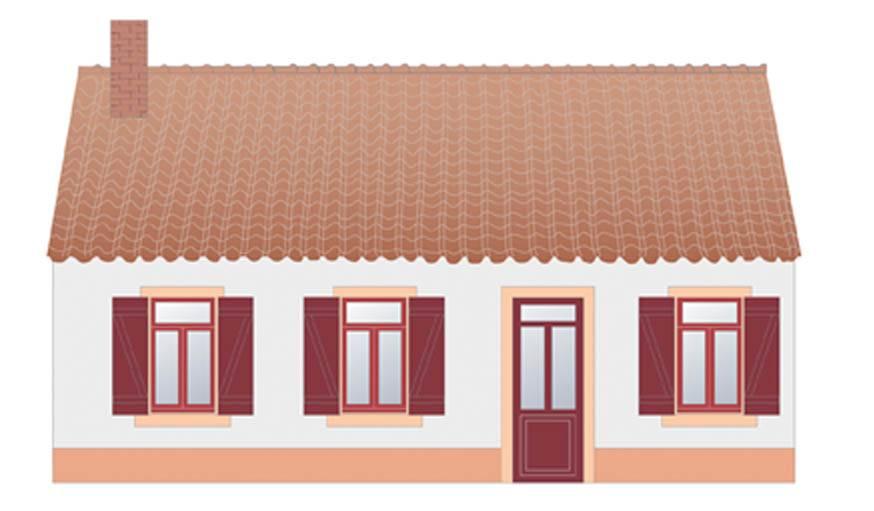 Exemple de camaïeu chaud des maisons du Nord.