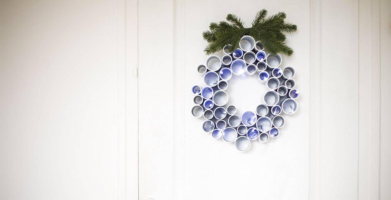 DIY : fabriquez une couronne de Noël contemporaine et graphique