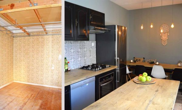 Avant / Après : Une cuisine chaleureuse, qui mélange les époques avec style
