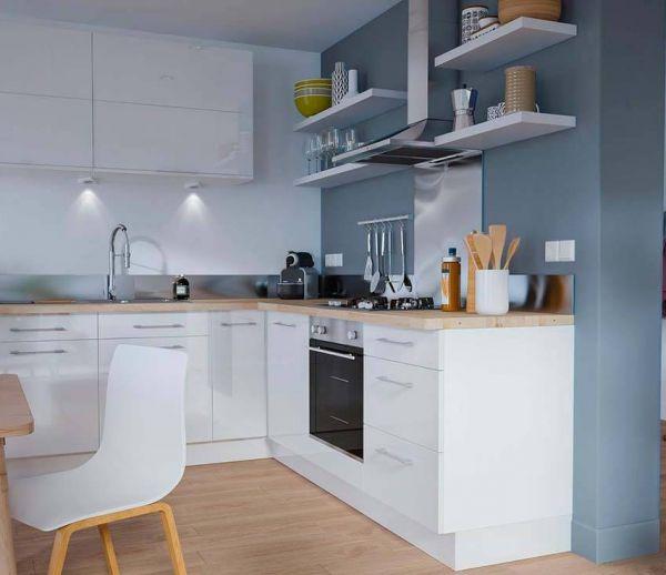 16 id es d co tendance pour une cuisine noire ou blanche - Cuisine ouverte ou fermee ...
