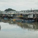 Le village de Tai'O en banlieue de HongKong.