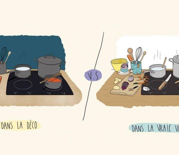 La cuisine : les magazines de déco vs la vraie vie