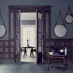 Une jolie association de miroirs suspendus
