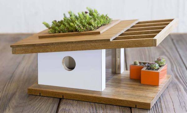 Ambiance maison d'architecte pour les oiseaux du jardin