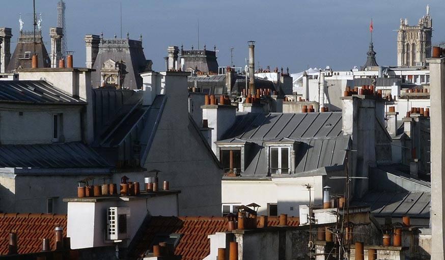 Les toits de Paris, début février.