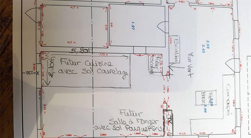 Jeune Plans d'architecte pour un îlot de cuisine de rêve - Dessiner un UU-89