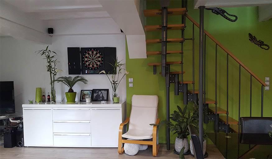 L'objectif : harmoniser la cuisine et la salle à manger avec les couleurs déjà présentes.