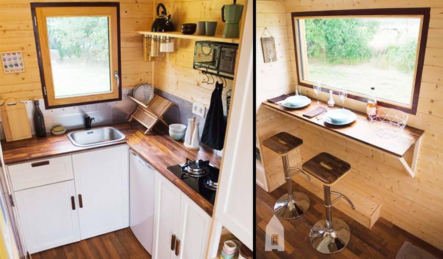 La cuisine occupe une place centrale.