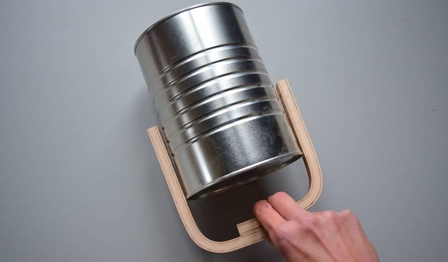 diy transformez une bo te de conserve en une applique pop. Black Bedroom Furniture Sets. Home Design Ideas