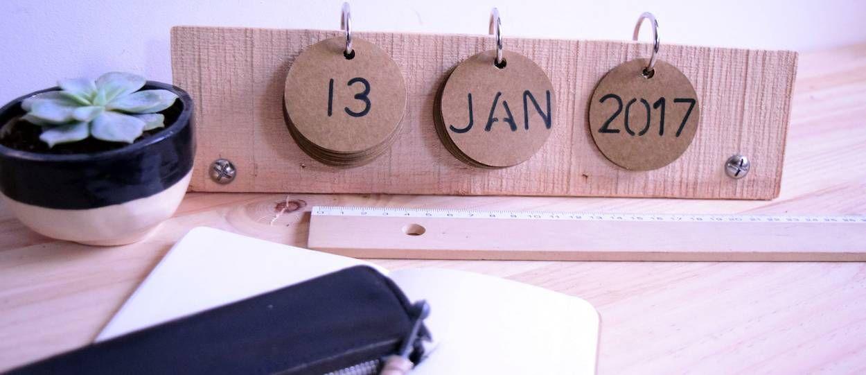 DIY : Fabriquez un calendrier perpétuel en cagette