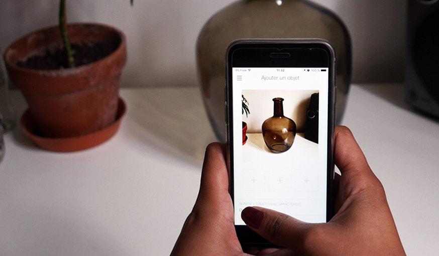 Il suffit de prendre en photo un objet pour l'enregistrer sur l'application.