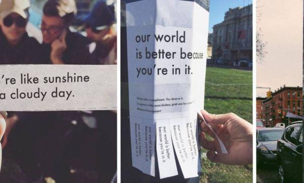 Illuminez la journée de vos voisins avec ces compliments en libre-service
