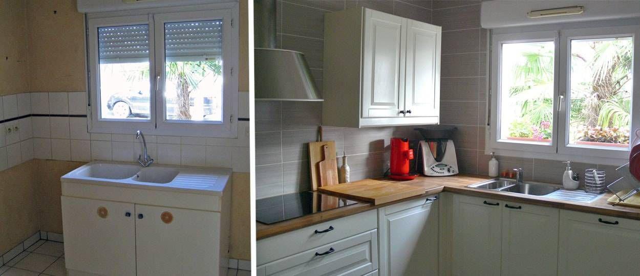 Relooker sa cuisine une cuisine blanche et pratique inspiration cuisine - Cuisine pratique et fonctionnelle ...