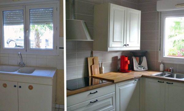 Avant / Après : Une cuisine lumineuse et fonctionnelle