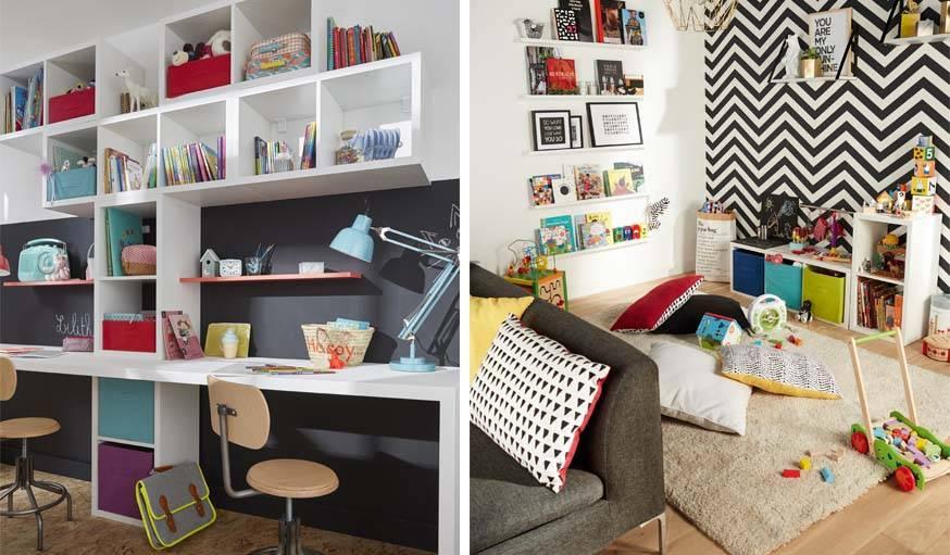 Définir un espace dans le salon pour les enfants qui n'auraient pas leurs propres chambres.