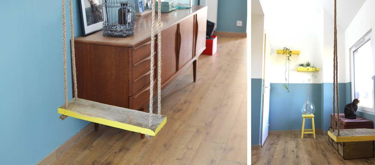 DIY : Fabriquez une balançoire d'intérieur qui a du style !