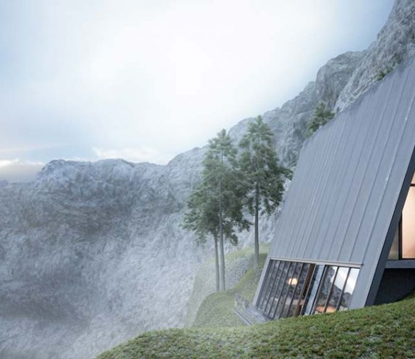 Une maison de rêve à flanc de montagne