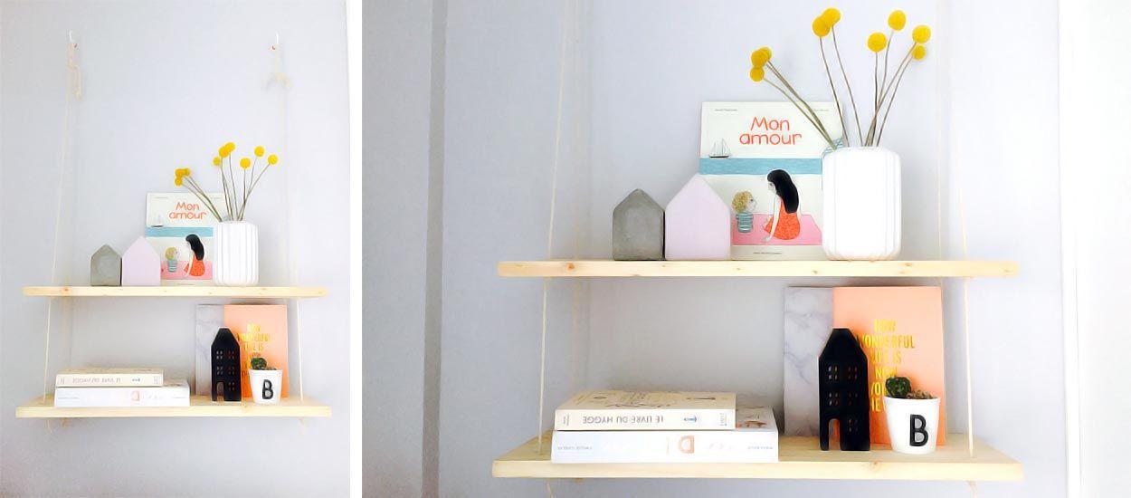 DIY : Fabriquez une étagère suspendue pour moins de 20 euros
