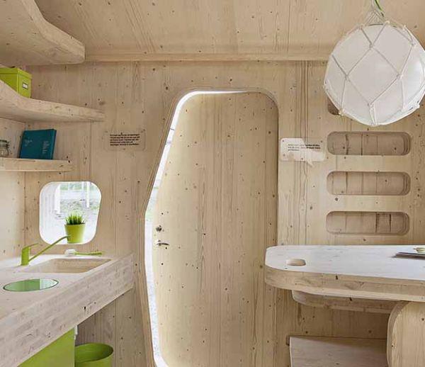 Des mini-maisons de bois pour les étudiants suédois