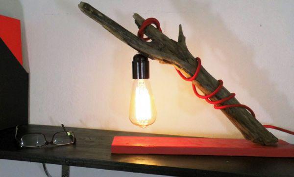 DIY : Fabriquez une lampe moderne... en bois flotté !