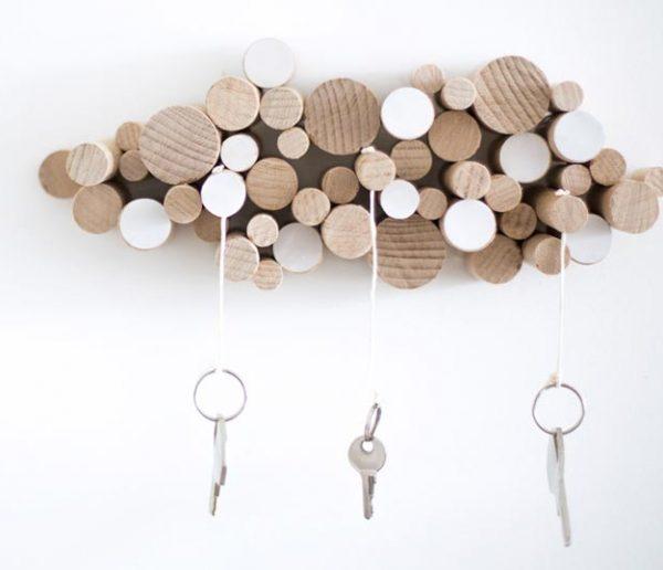 DIY : Fabriquer un range-clés nuage avec des tourillons