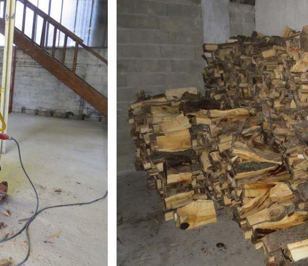 Ils distribuent du bois de chauffage à des familles dans le besoin