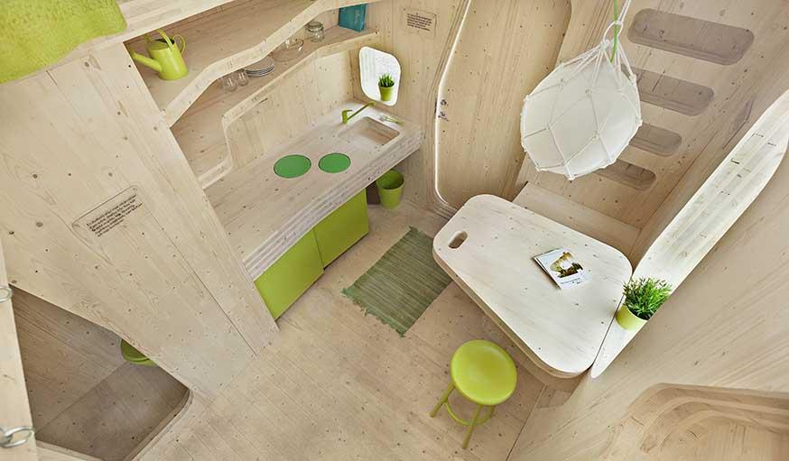 des mini maisons en bois pour les tudiants en su de vivre dans 10 m tres carr s. Black Bedroom Furniture Sets. Home Design Ideas
