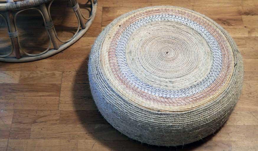 Favori DIY - Un pouf dans un pneu - Fabriquez un siège d'appoint - 18h39.fr IW32
