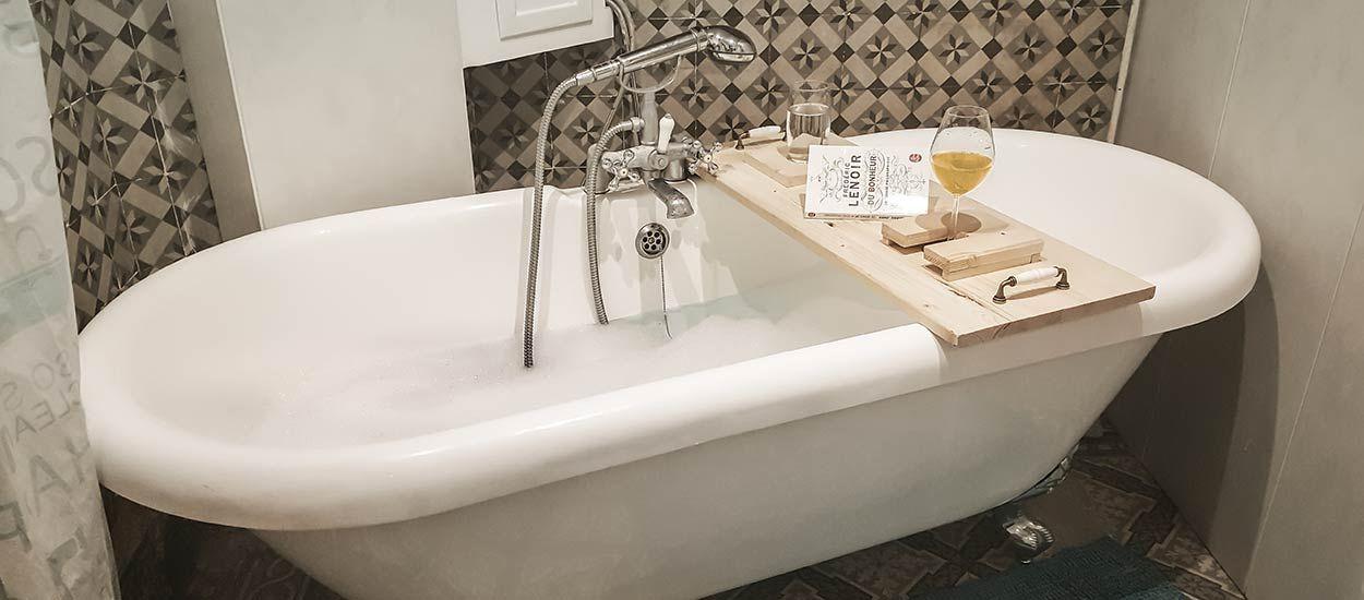 DIY : Fabriquez un superbe pont de baignoire en bois