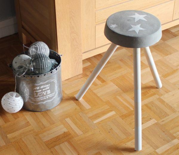 DIY : Fabriquez un tabouret en ciment en mode récup'
