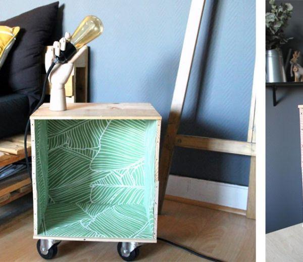 DIY : Fabriquez une table d'appoint design avec deux caisses de vin