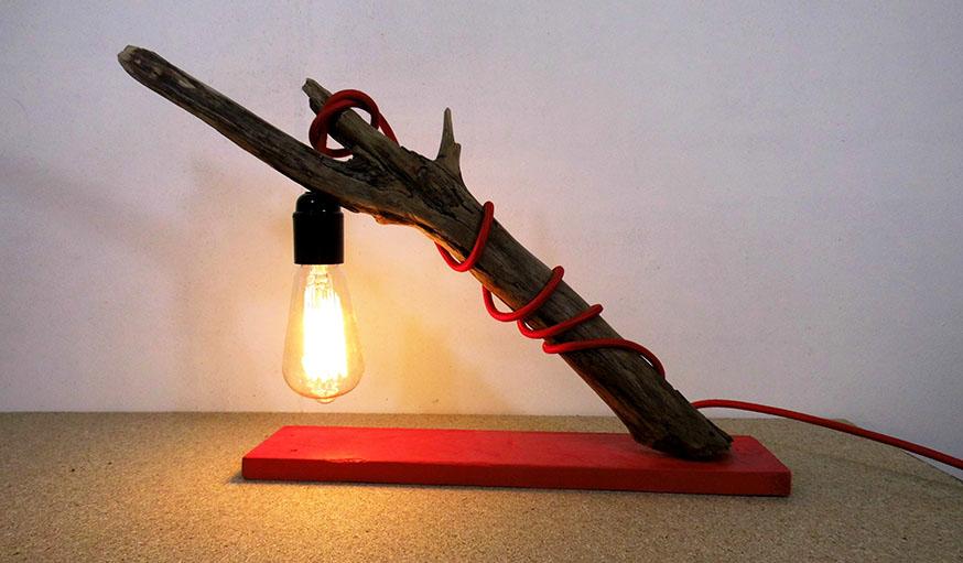 diy fabriquer une lampe suspendue en bois flott lampe. Black Bedroom Furniture Sets. Home Design Ideas