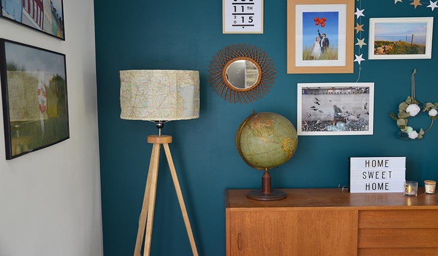 diy pour fabriquer une abat jour pas cher id e d co avec une carte routi re. Black Bedroom Furniture Sets. Home Design Ideas