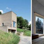 À gauche : maison par Roger Boltshauser et Martin Rauch. À droite : maison par Oskar Leo Kaufmann et Albert Ru?f.