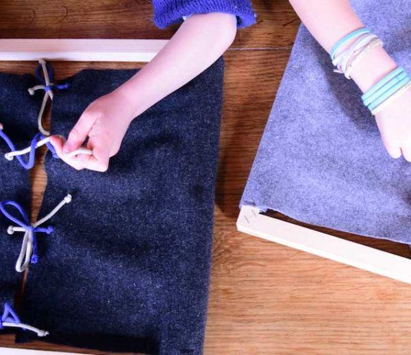 DIY Montessori : Fabriquez des jeux d'éveil pour apprendre à s'habiller