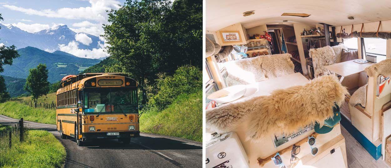 Cette famille a transformé un bus en auberge de jeunesse itinérante