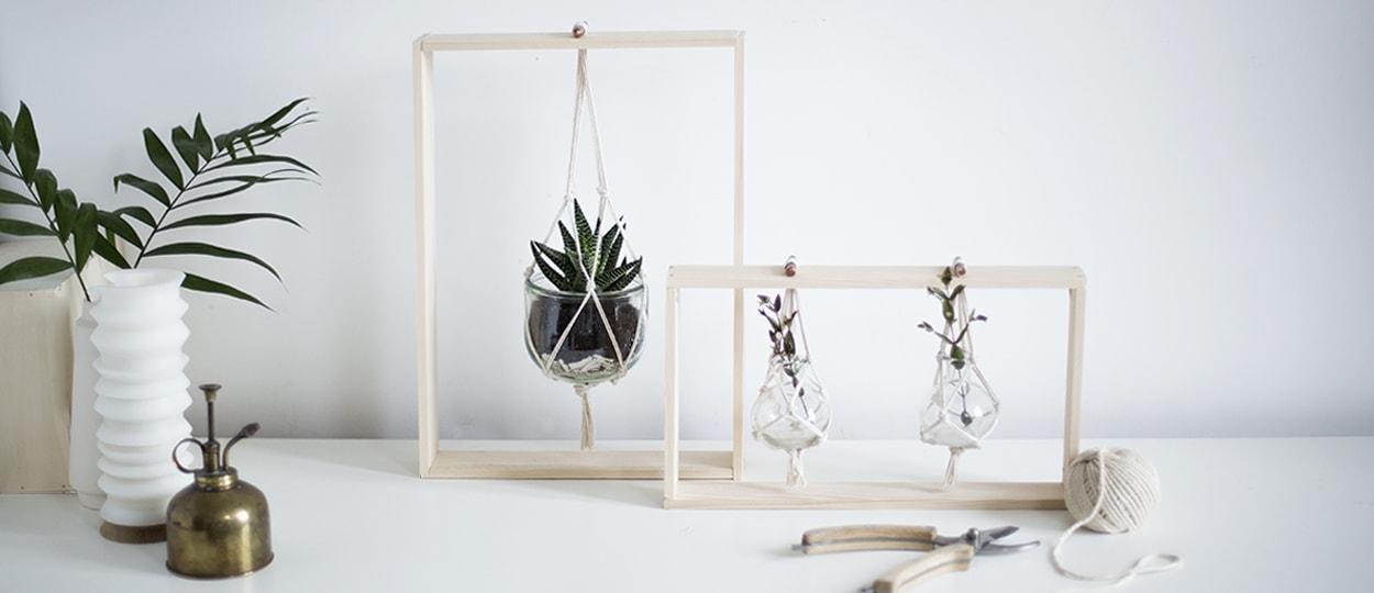 diy fabriquer des cadres en bois pour y suspendre des. Black Bedroom Furniture Sets. Home Design Ideas
